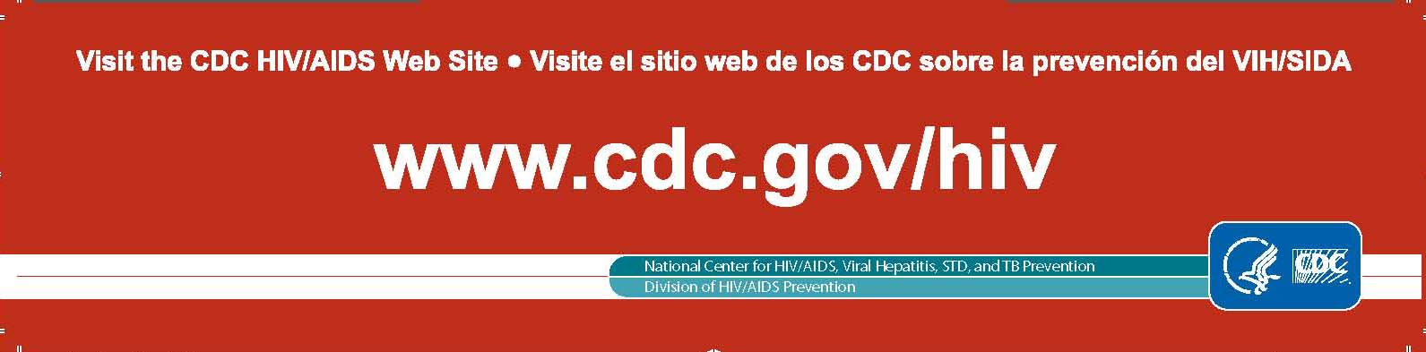 HIV Bookmark provided by the CDC