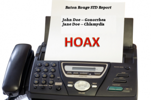 Fake STD Fax Report