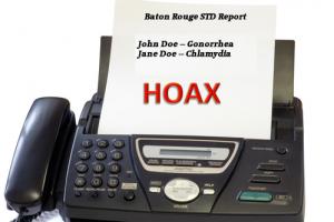 Fake STD Fax Report